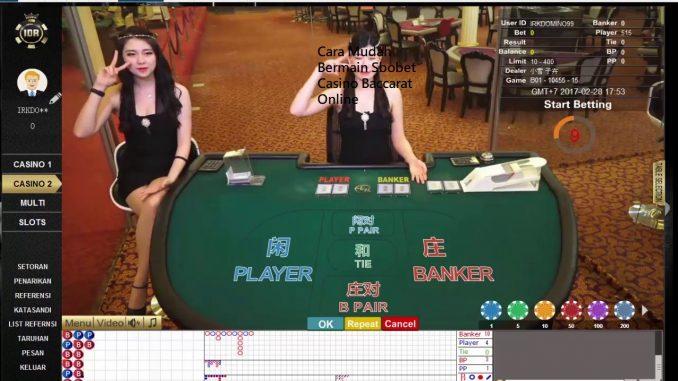 Cara Mudah Bermain Sbobet Casino Baccarat Online